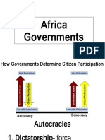 africa governments