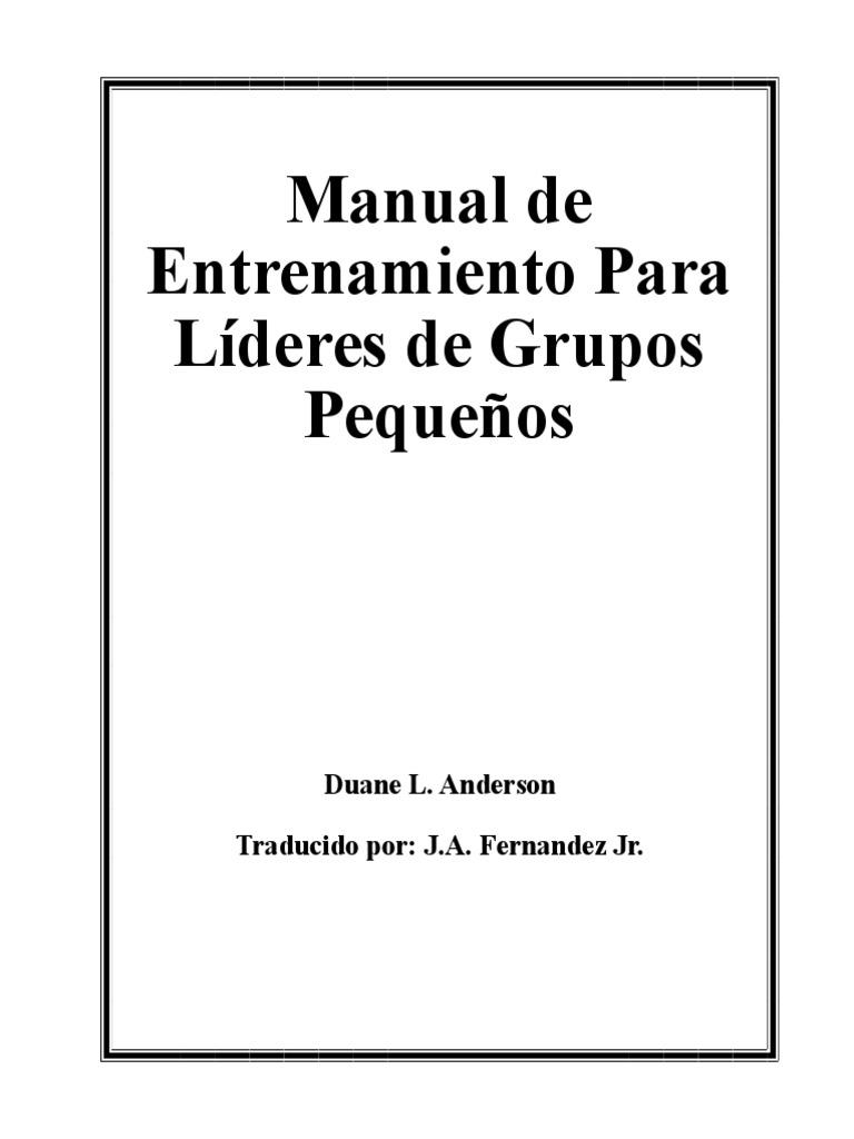 Manual de Entrenamiento Para Líderes de Grupos Pequeños 30