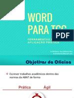 Word Para Tcc - APLICAÇÃO DA ABNT NO WORD