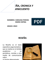 RESEÑA, CRONICA Y MINICUENTO.pptx