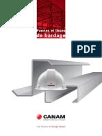 Canam Catalogue Des Pannes Et Lisses de Bardage Canada1