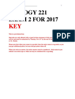 2017_Biol221_Exam2 KEY With Detail
