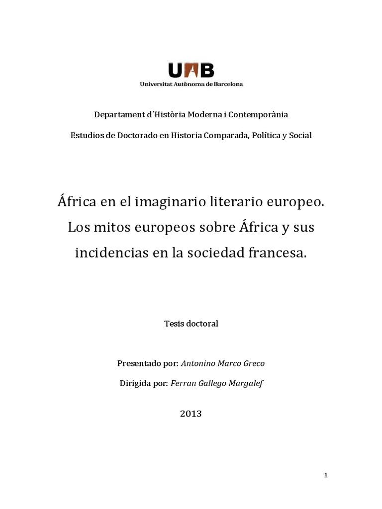 África y Sus Incidencias en La Sociedad Francesa