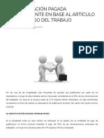 Tribulex - La Gratificación Pagada Mensualmente en Base Al Artículo 50 Del Código Del Trabajo