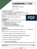 Serie de Revision Bac 2011 - Math - Bac Mathématiques (2010-2011) Mr Youssef Boulila