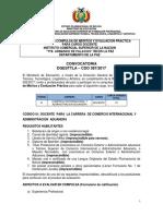 CDO 387 LA PAZ Inst Com Sup de La NacionTte Armando de Palacios INCOS La PAz