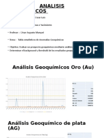 ANALISIS GEOQUIMICOS
