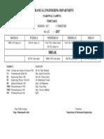 Time Table-ME-1st Semester (Session 2017)