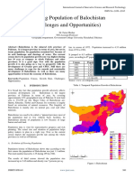 Growing Population of Balochistan Challenges and Opportunities