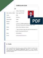 Curriculum Vitae (Adhitya Nf)English
