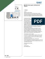 Interruptor Diferencial Clase B NL210