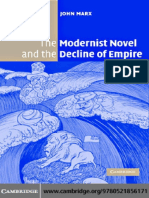 Modernist Novel and the Decline of Empire, The - John Marx