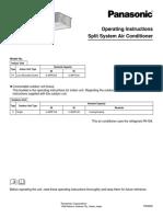 Panasonic AC Manual