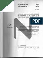 NTC 5561_2007(IEC 60112_2003) Método de Determinación de Los Índices de Resistencia y de Prueba a La Formacion de Caminos Conductores de Los Aislantes Sólidos