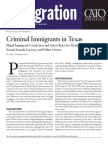 Criminal Immigrants in Texas