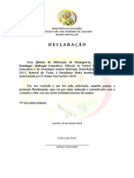 DECLARAÇÃO Para Efeito de Passaporte