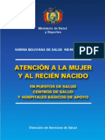 05 Bolivia Guidelines Women and Newborn Health Care 2003