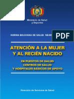 05 Bolivia Guidelines Women and Newborn Health Care 2003