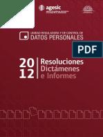 Libro+Resoluciones+URCDP+2012