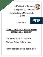 Importancia de Educacion en Medicina Del Deporte