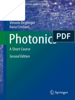 Photonics, A Short Course - Degiorgio