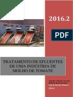 Tratamento de Efluentes Industria de Molho de Tomate