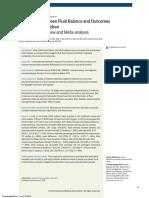 asociacion entre balance hidrico y resultados en niños criticos