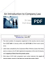Company Law-An Introduction