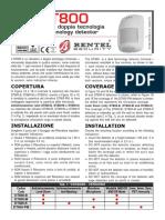 Bentel Sensore Dt800