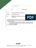 NKU Jeffrey Standen Investigation Documents