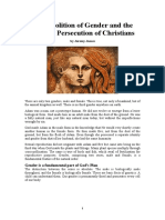 The Abolition of Gender and the Coming Persecution of Christians