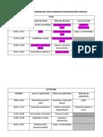 Calendario de Examenes Del Ciclo Formativo de Educación Infantil
