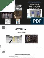 Diapositiva # 2 Métodos Subterráneos 2017 I S 1-2