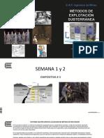 Diapositiva # 3 Métodos Subterráneos 2017 I S 1-2