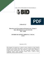 PROGRAMA DE SANEAMIENTO INTEGRAL DE LA BAHÍA Y ÁREA METROPOLITANA DE ASUNCIÓN