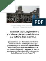 Friedrich Hegel, el feminismo, y el aborto