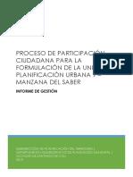 Informe de Gestión Proceso de Participación UPU 9 - Manzana Del Saber