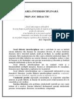 Joc Didactic Inter Disciplina r