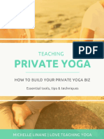 Teaching Private Yoga