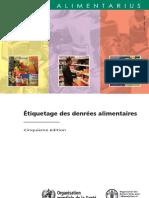Étiquetage Des Denrées Alimentaires by Nacerinho Dhiya Eddine