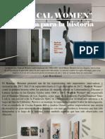 Luis Benshimol - Radical Women, una muestra para la historia
