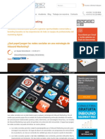 Papel Juegan Las Redes Sociales en Una Estrategia de Inbound Marketing