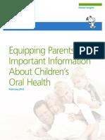 Parental Oral Health Literacy