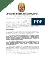 Modelo de Resolucion de Constitución de Junta Vecinal