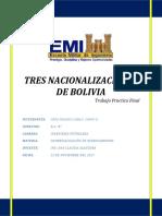 Informe - 3 NACIONALIZACIONES