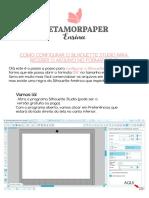 Configurando o Silhouette Studio Para Abrir DXF No Tamanho Correto.