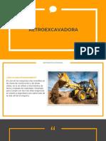 Retro excavadora Y sus especificaciones
