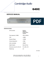 Cambridge Audio Azur 640c Service manual