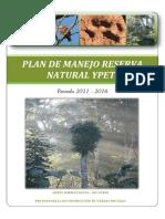 Plan de Manejo Reserva Natural Privada Ypeti