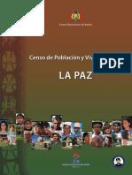 La Paz Censo Nacional de Poblacion y Vivienda 2012